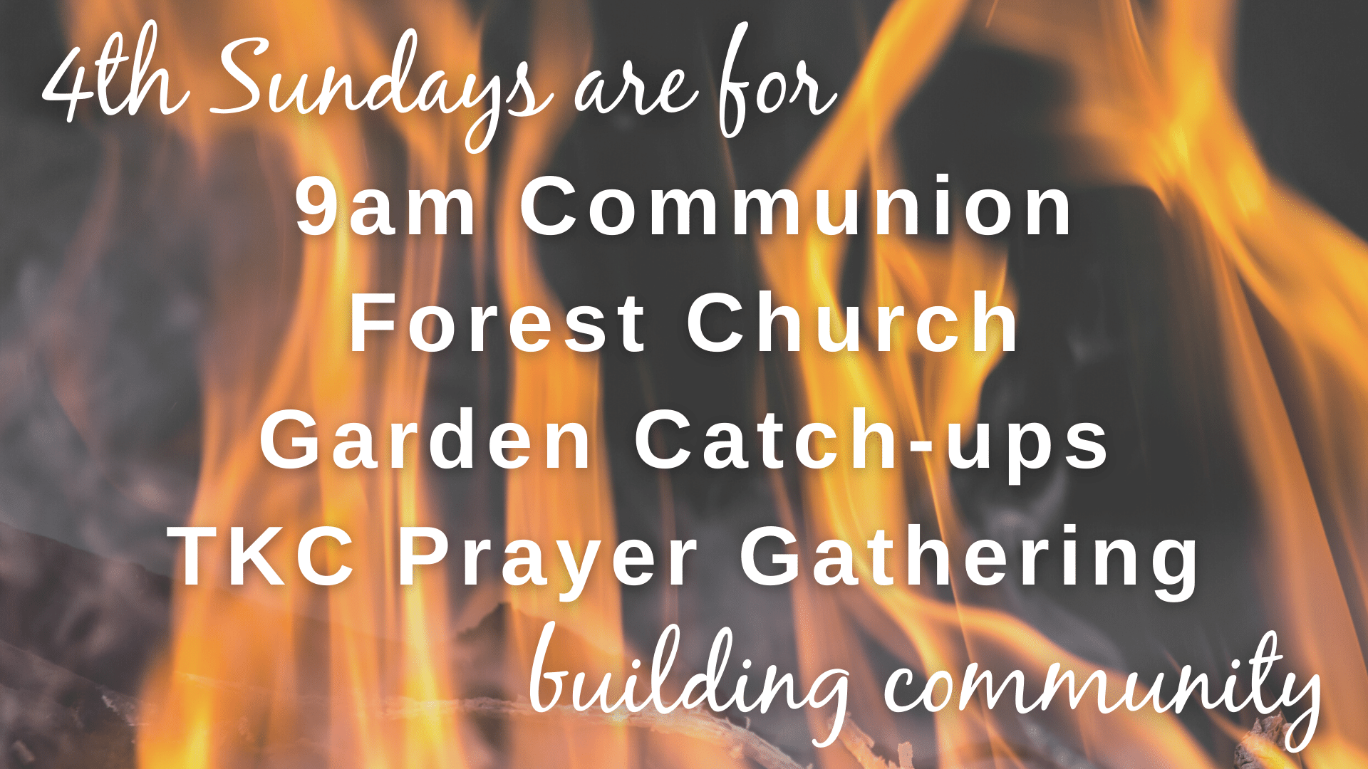 4th Sundays are for building community
